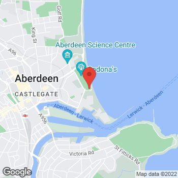 Map of Burger King at Queens Links Leisure Park, Aberdeen,  AB24 5EN