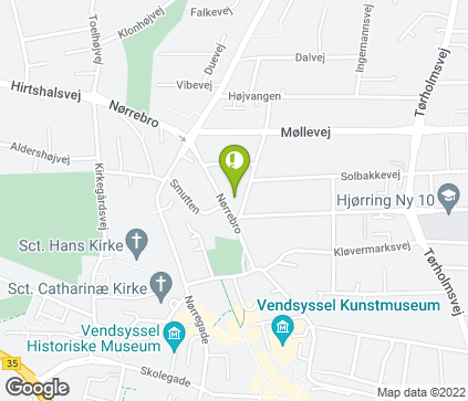 Map of Nørrebro 10 in Hjørring