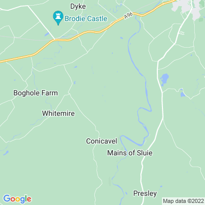Darnaway Castle Location