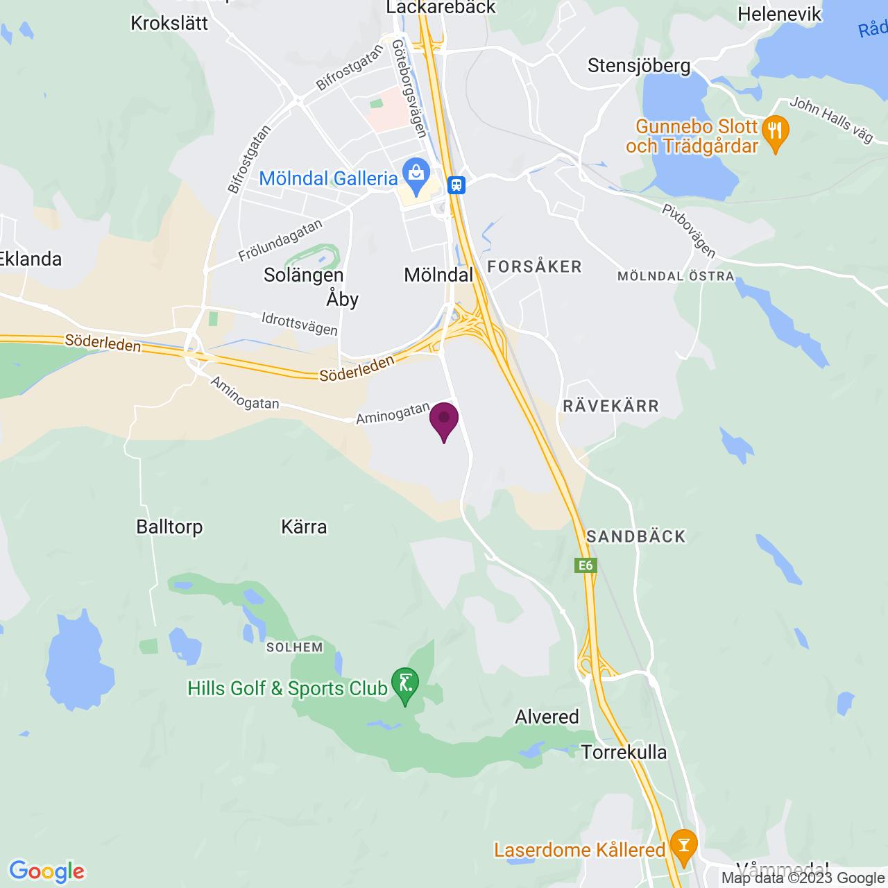 Kort över Neongatan 4 B