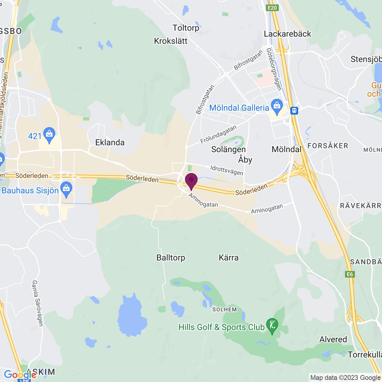 Karta över Johannefredsgatan 1