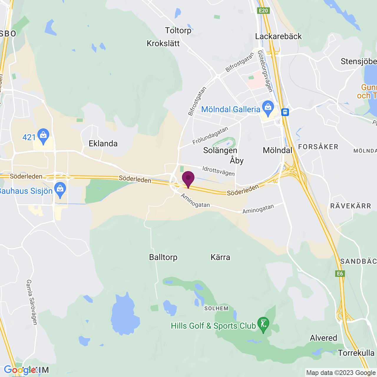 Karta över Johannefredsgatan 3-5
