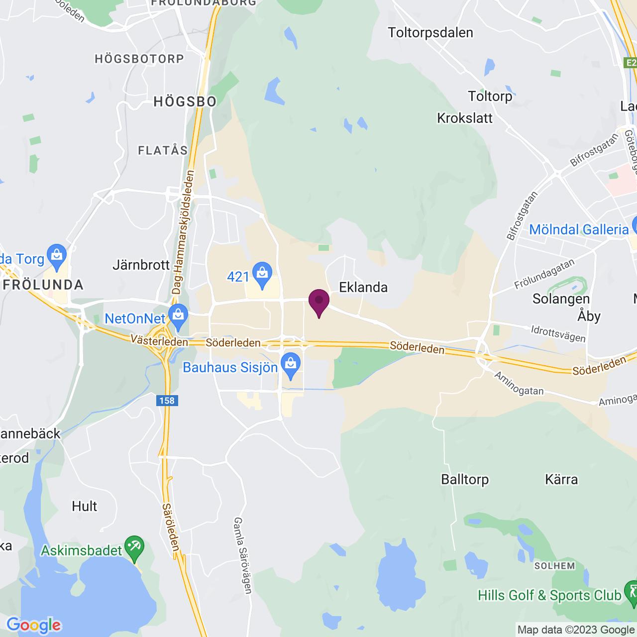Map of Hulda Mellgrens gata 5