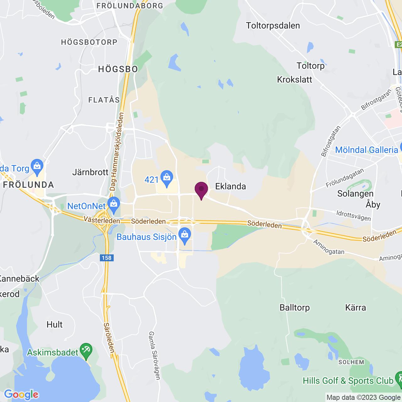 Map of Hulda Mellgrens Gata 3