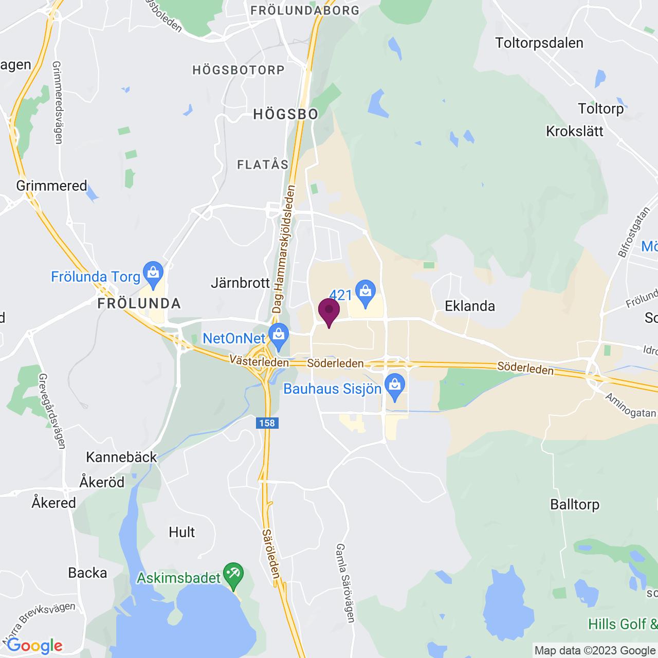 Karta över August Barks gata 6