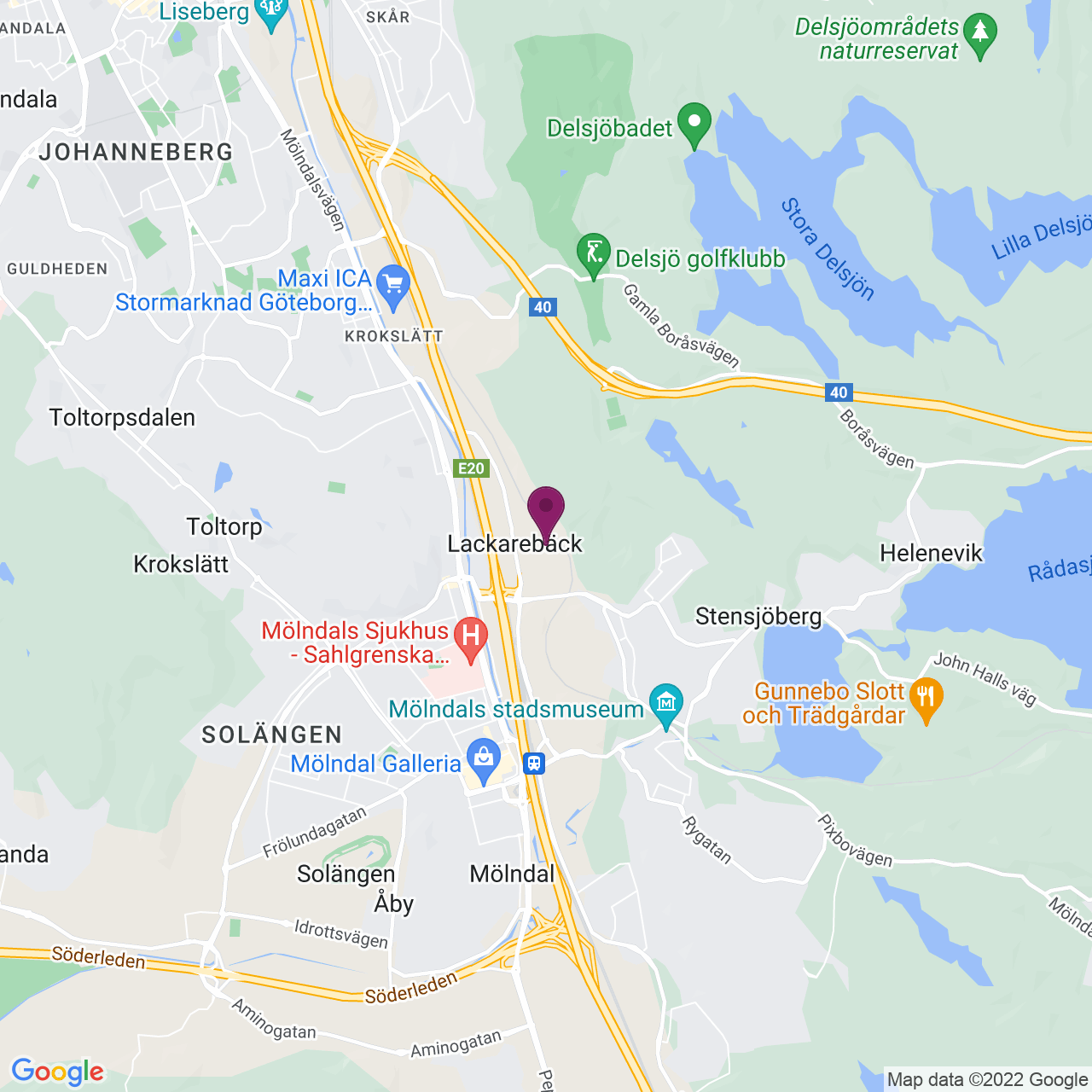 Kort över Bergfotsgatan 5