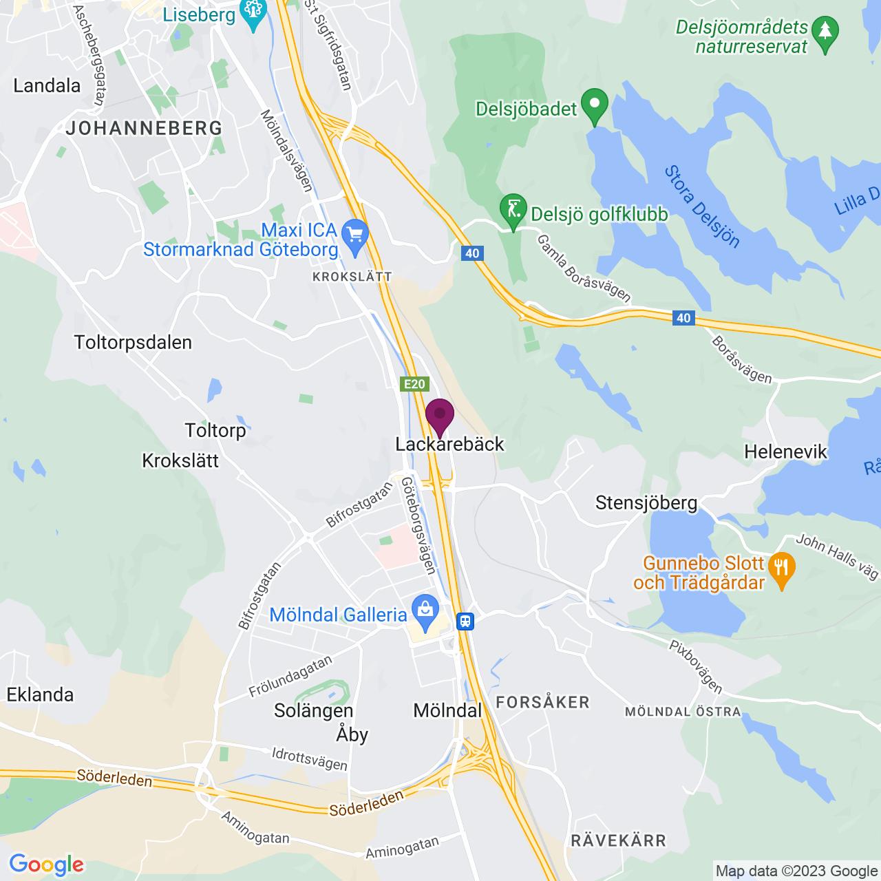 Kort över Flöjelbergsgatan 3