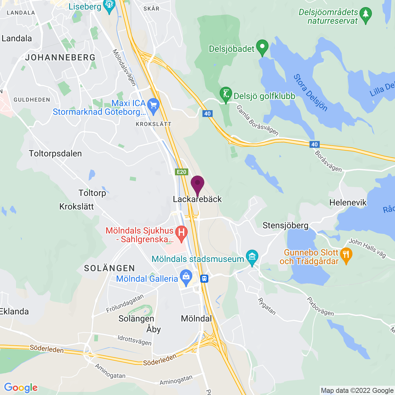 Karta över Flöjelbergsgatan 6
