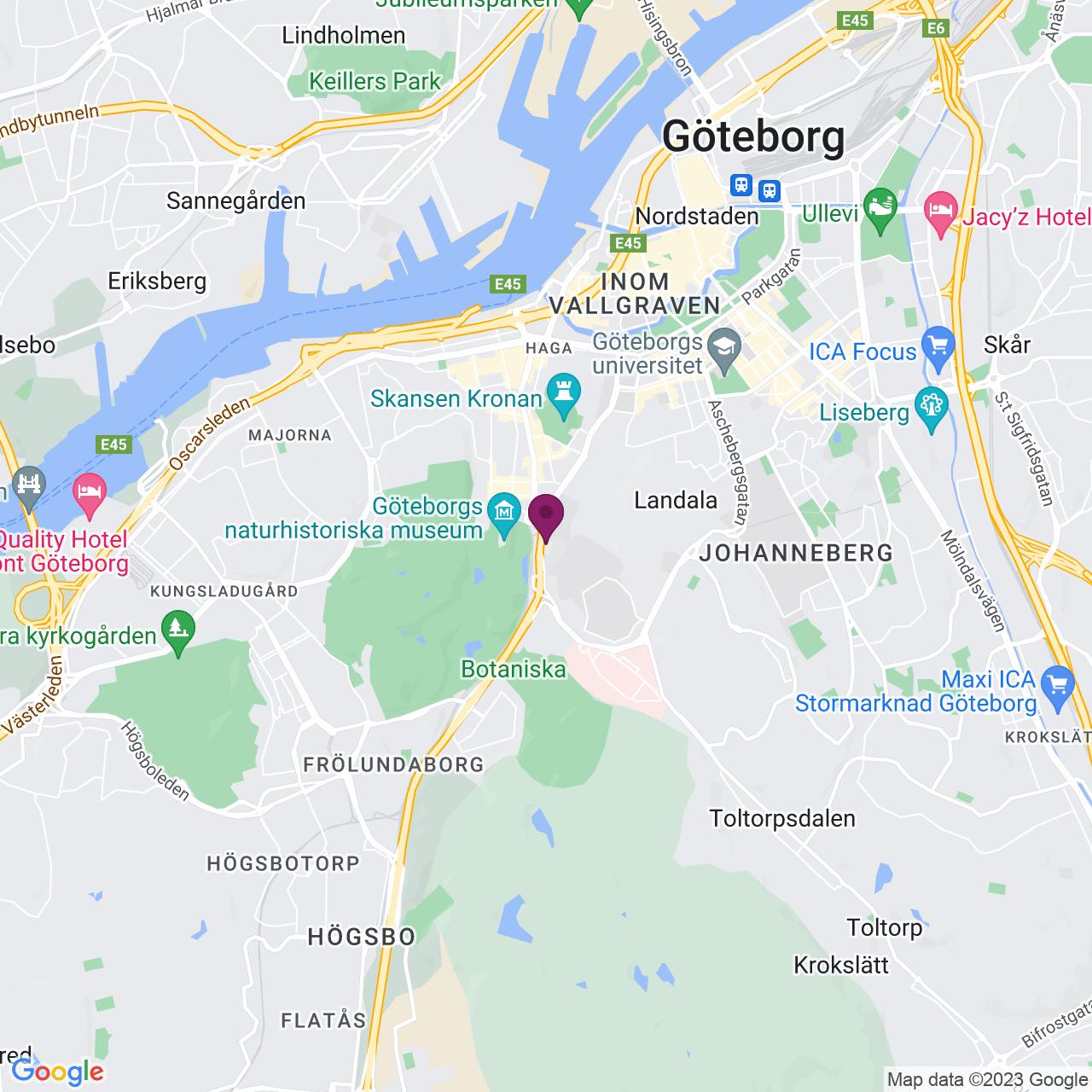 Kort över Haraldsgatan 5