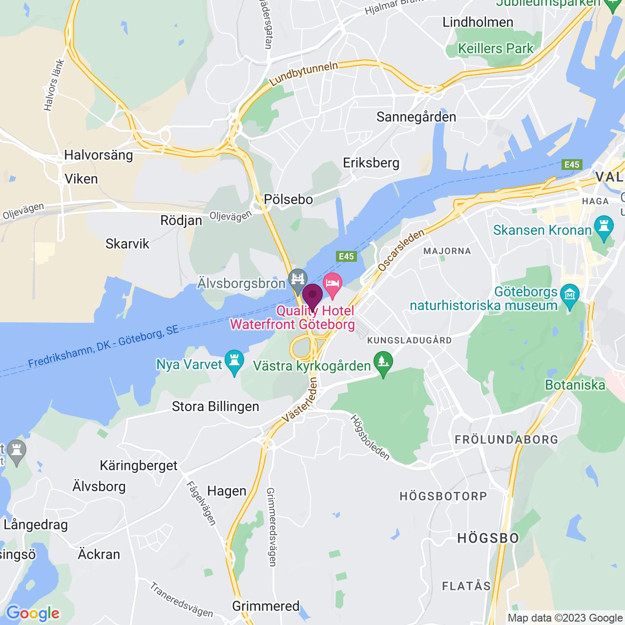 Karta över Banehagsgatan 20