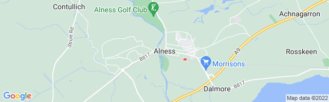 Map Of Alness