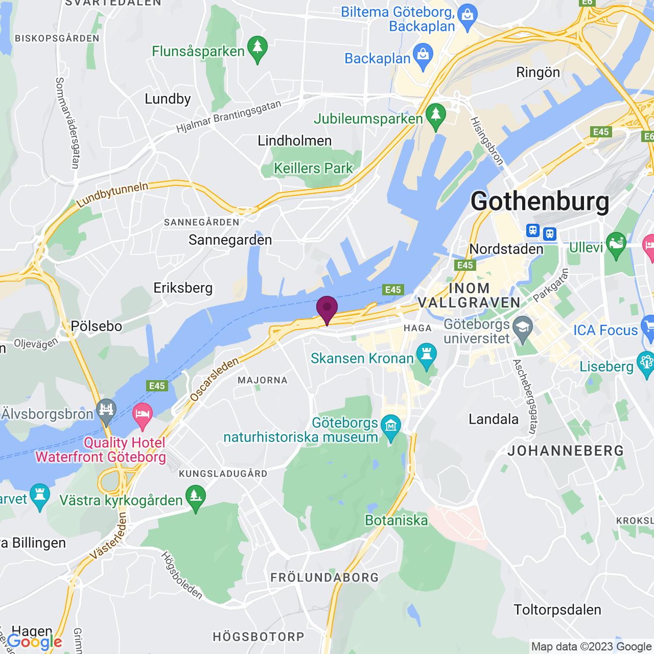 Map of Amerikahuset / Barlastgatan 2