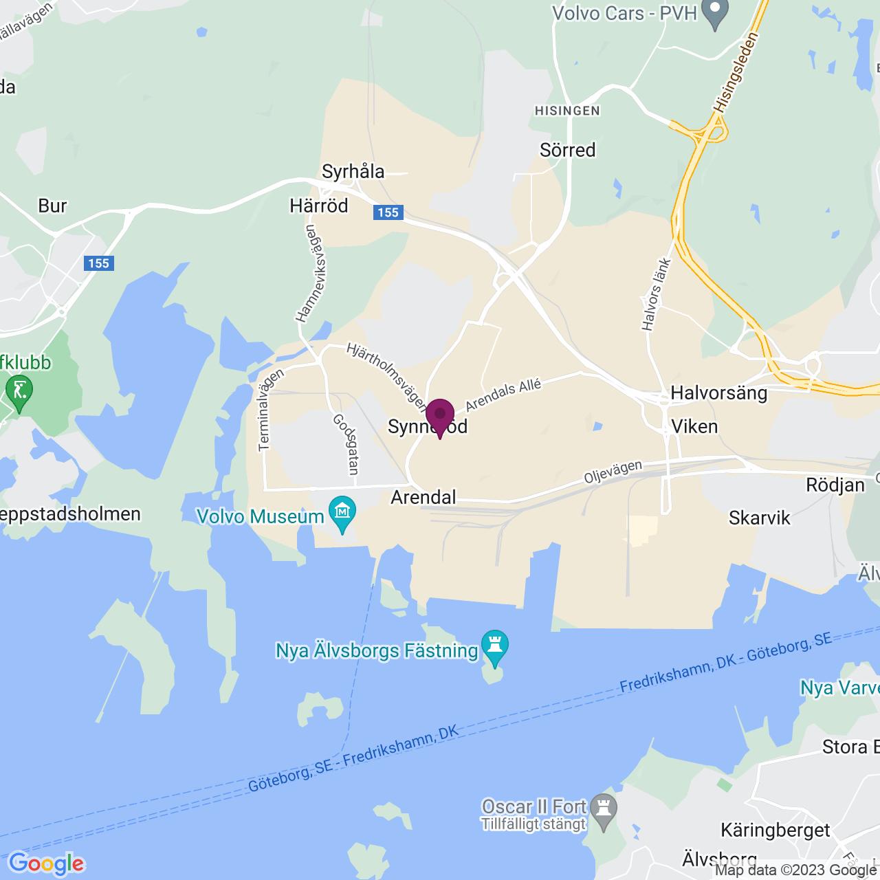 Karta över Oljevägen 103-109