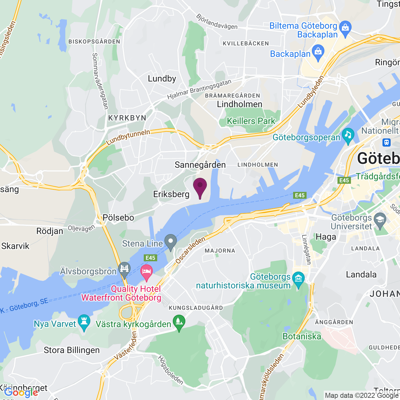 Kort över Vingalandsgatan 8