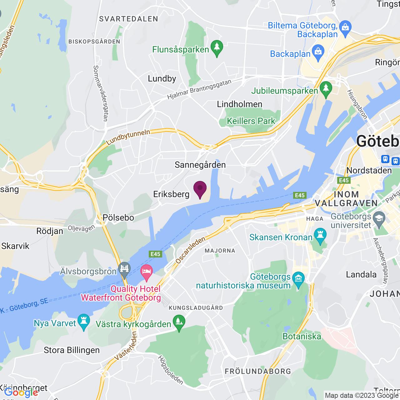 Karta över Vingalandsgatan 8