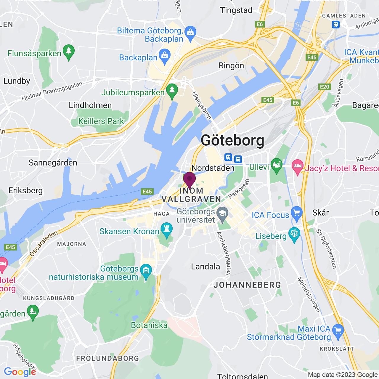 Kort över Kungsgatan 15 - 17