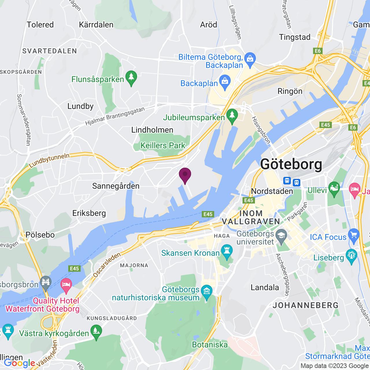 Kort över Theres Svenssons gata 7