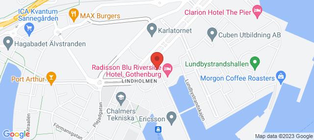 Lindholmens P-husKarta över