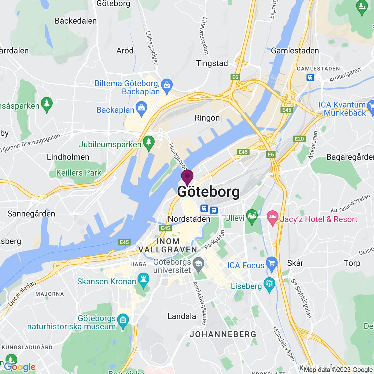 Karta över Lilla Bommen 4 B