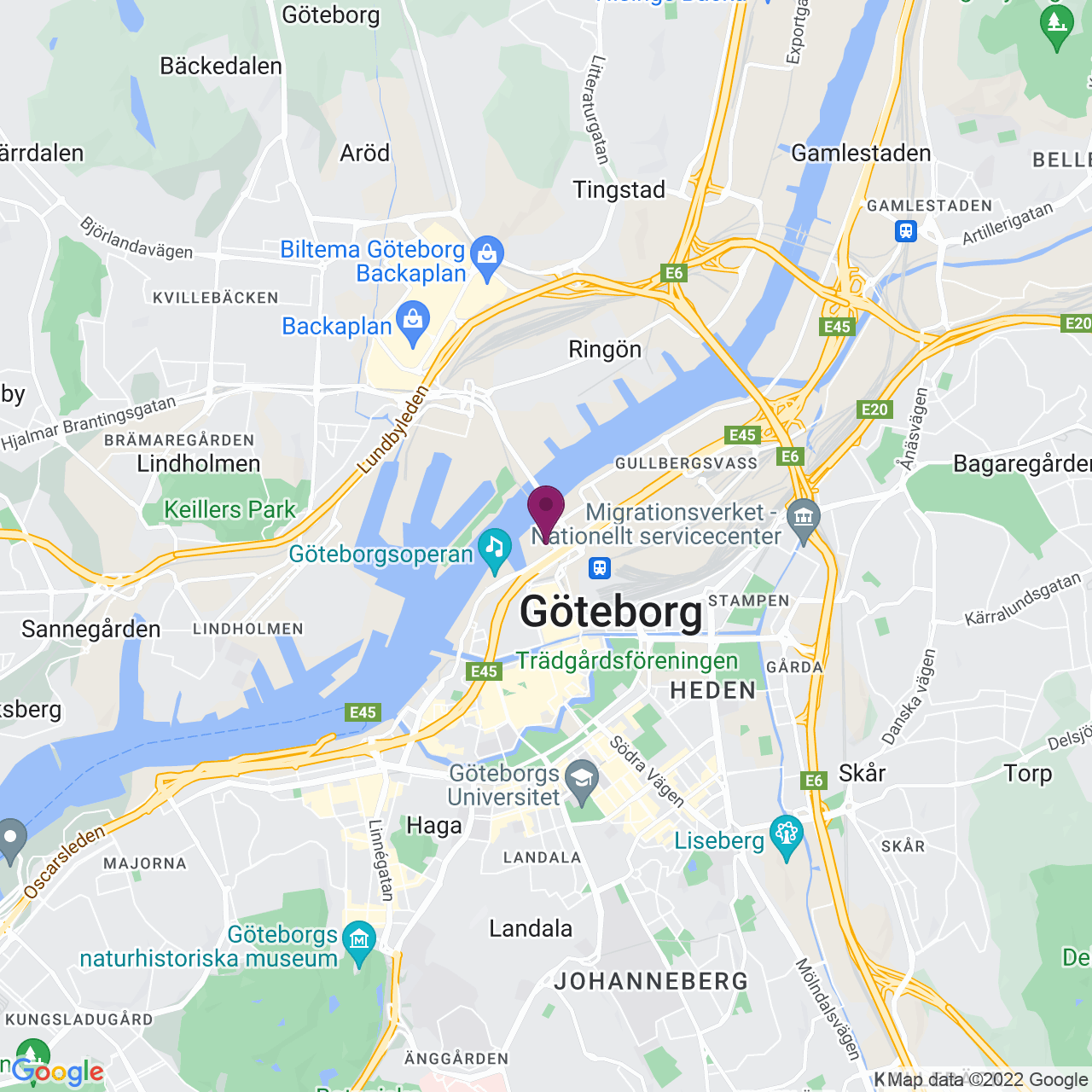 Kort över Lilla Bommen 5 B