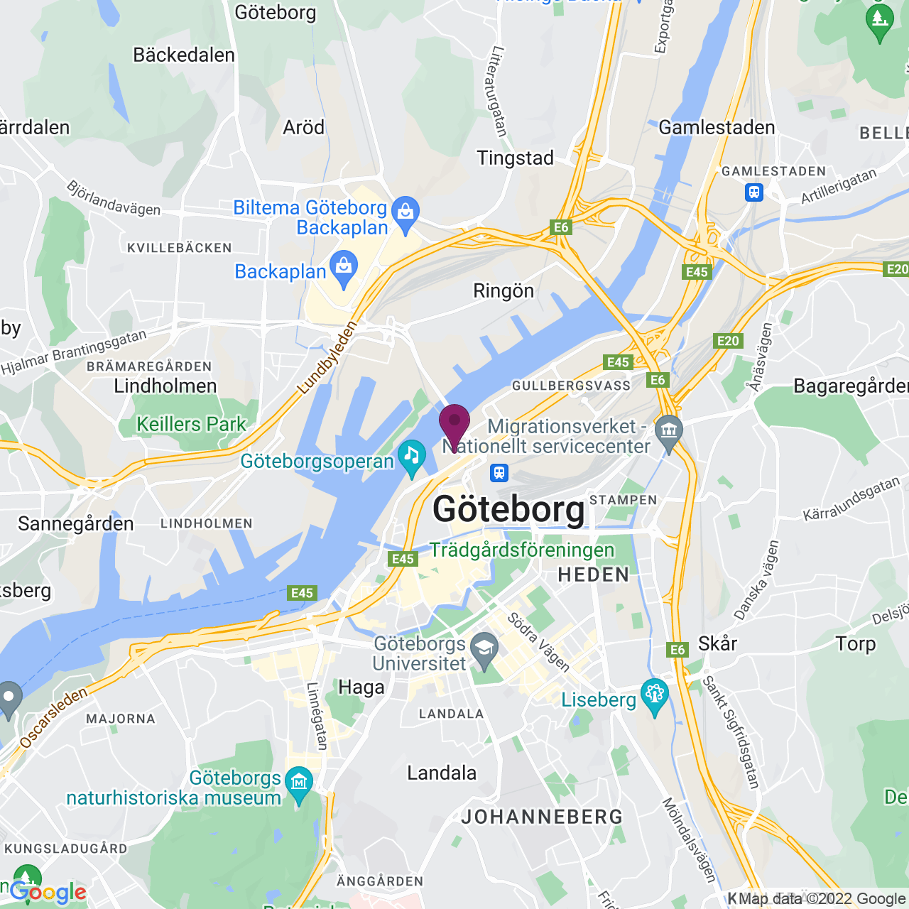 Karta över Lilla Bommen 5 B