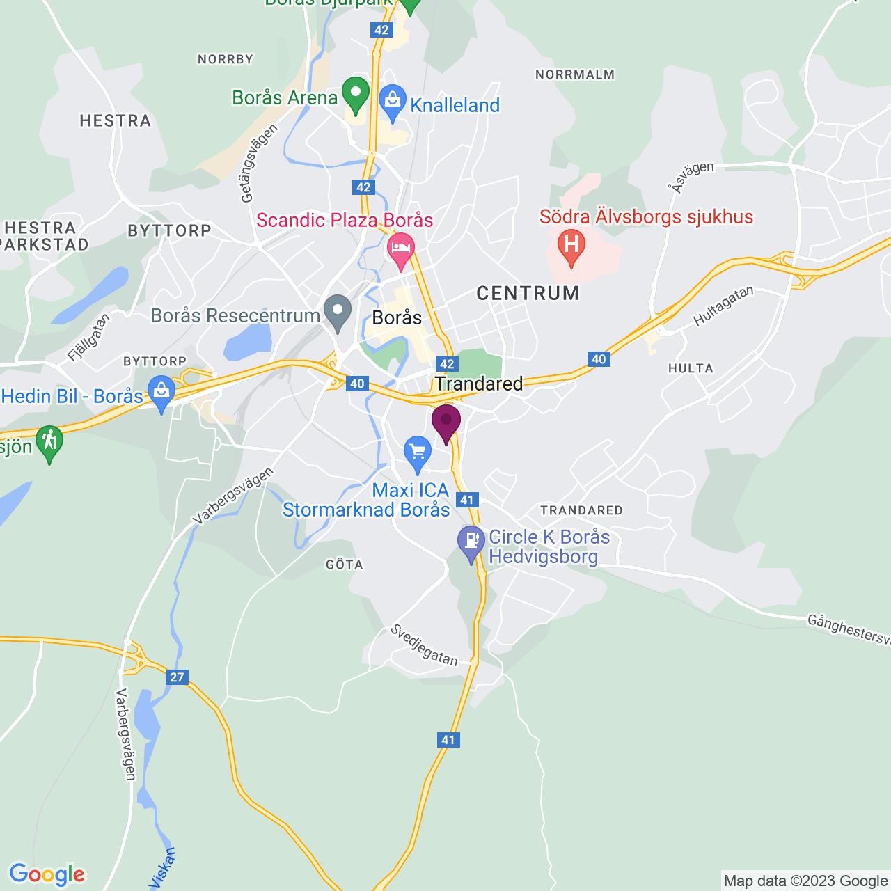 Karta över Elinsdalsgatan 13