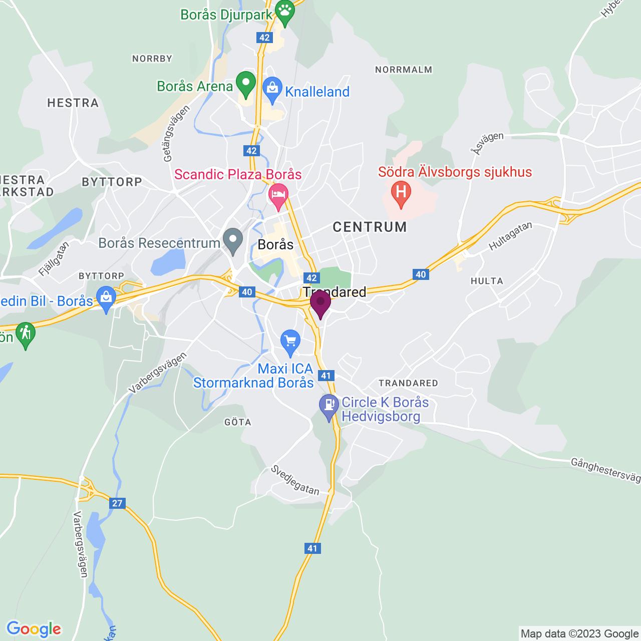 Kort över Katrinedalsgatan 22