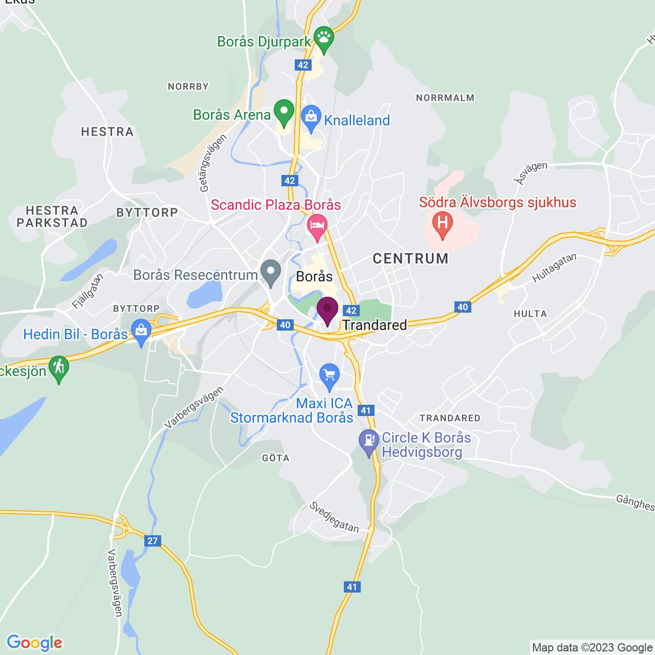 Kort över Bryggaregatan 18,20