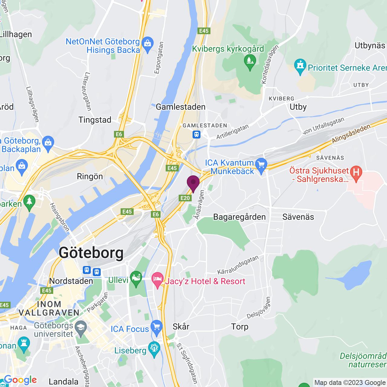 Kort över Svangatan 2 - 4