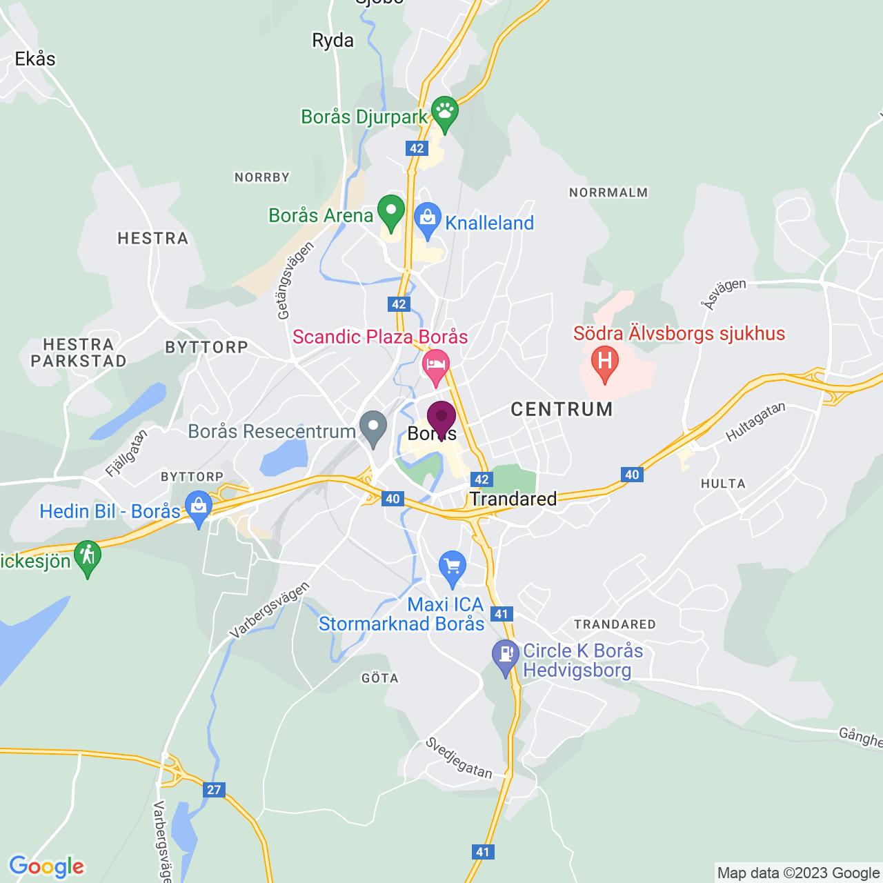 Karta över Lilla Brogatan 19-21