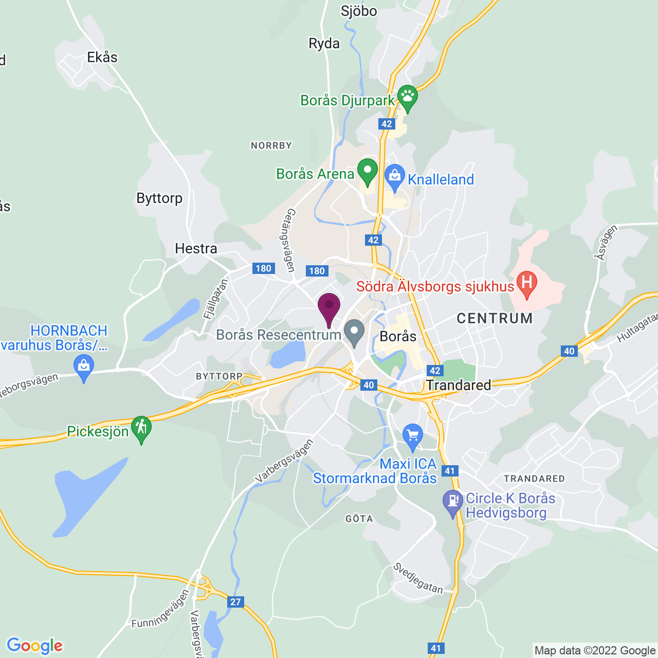 Karta över Ramnåsgatan 1