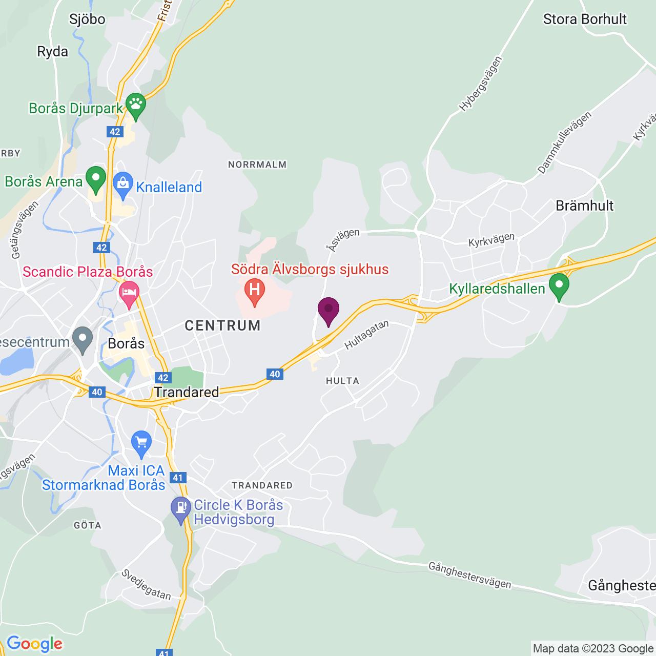 Karta över Solvarvsgatan 4