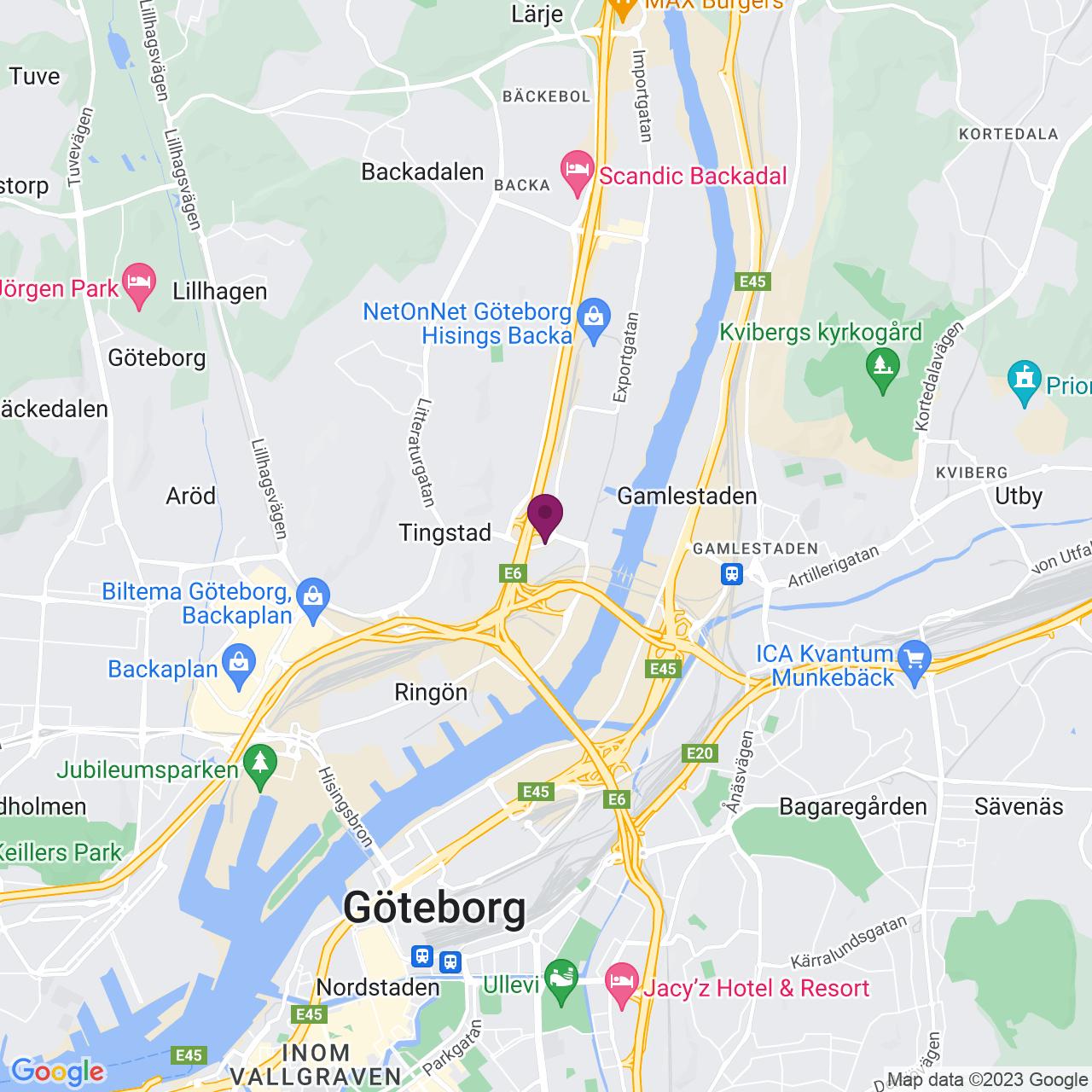 Karta över Exportgatan 2-4