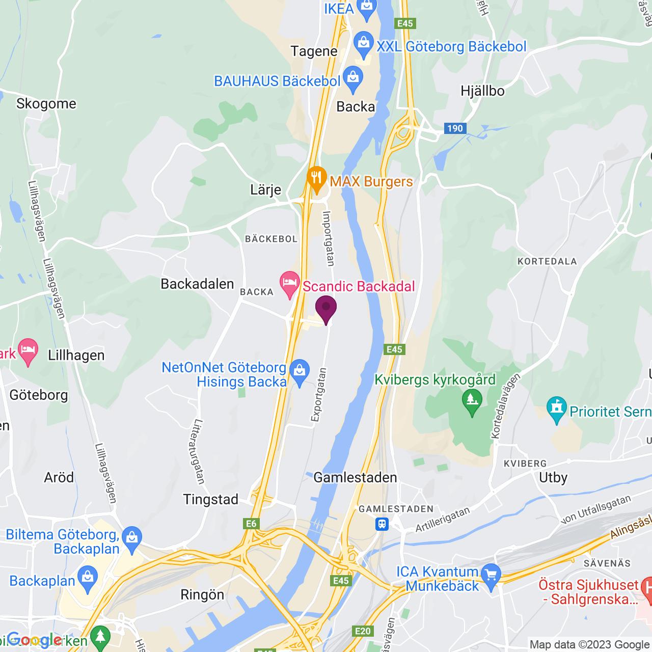 Kort över Importgatan 7