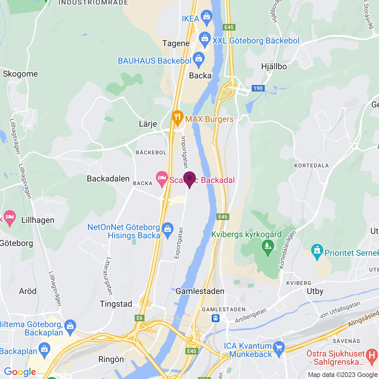 Karta över Importgatan 17