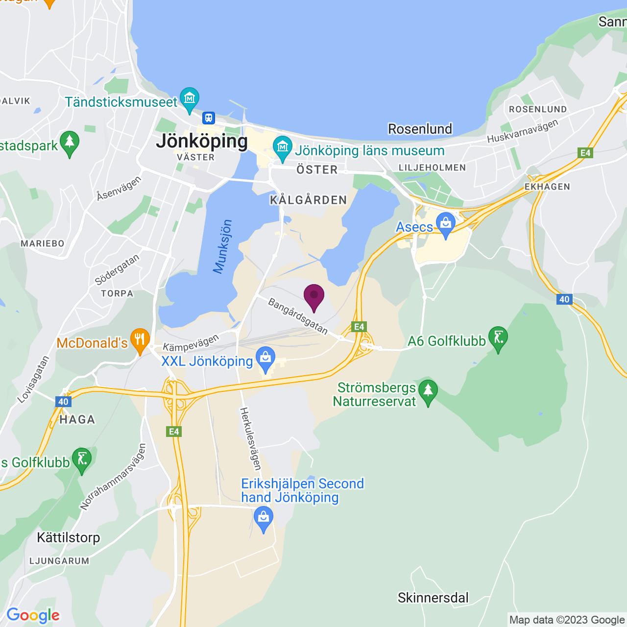 Kort över Kalkstensgatan 6-8