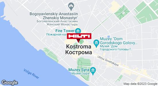 Get directions to Региональный представитель Hilti в г. Кострома