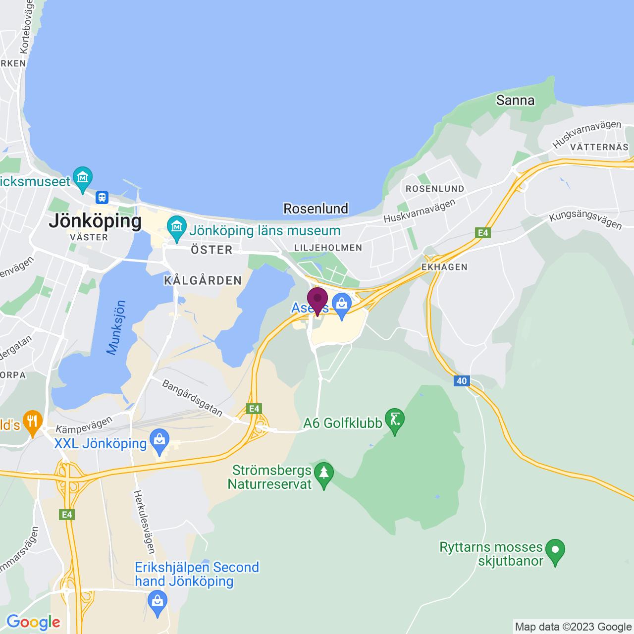 Kort över Kompanigatan 1-2