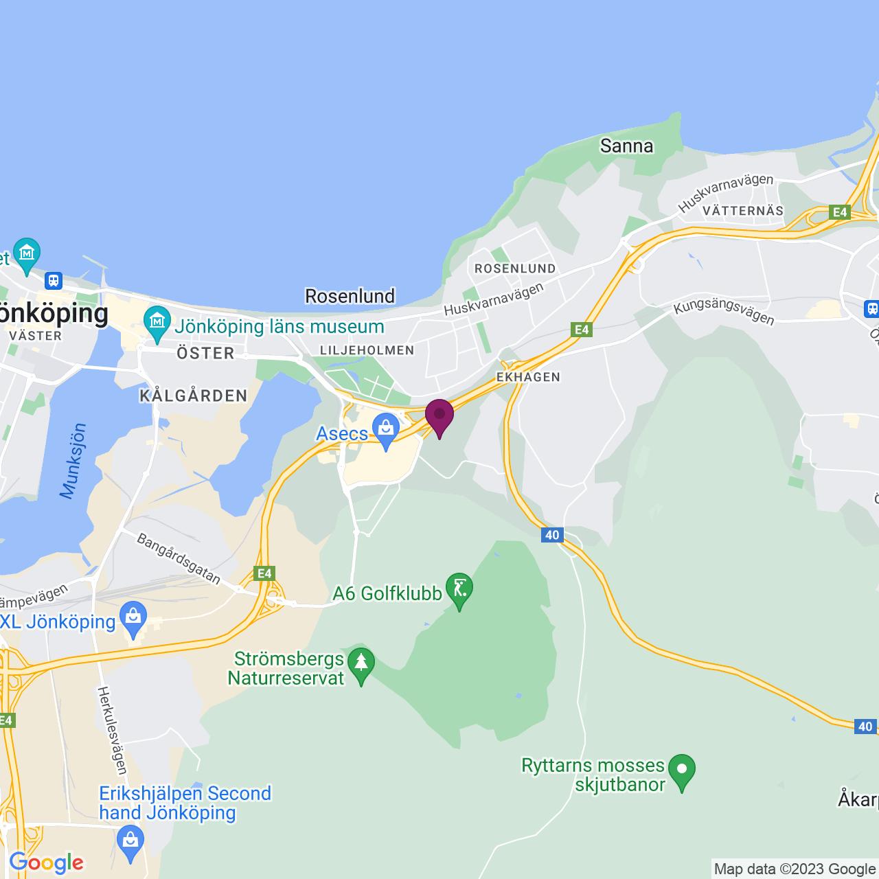 Kort över Bataljonsgatan 10