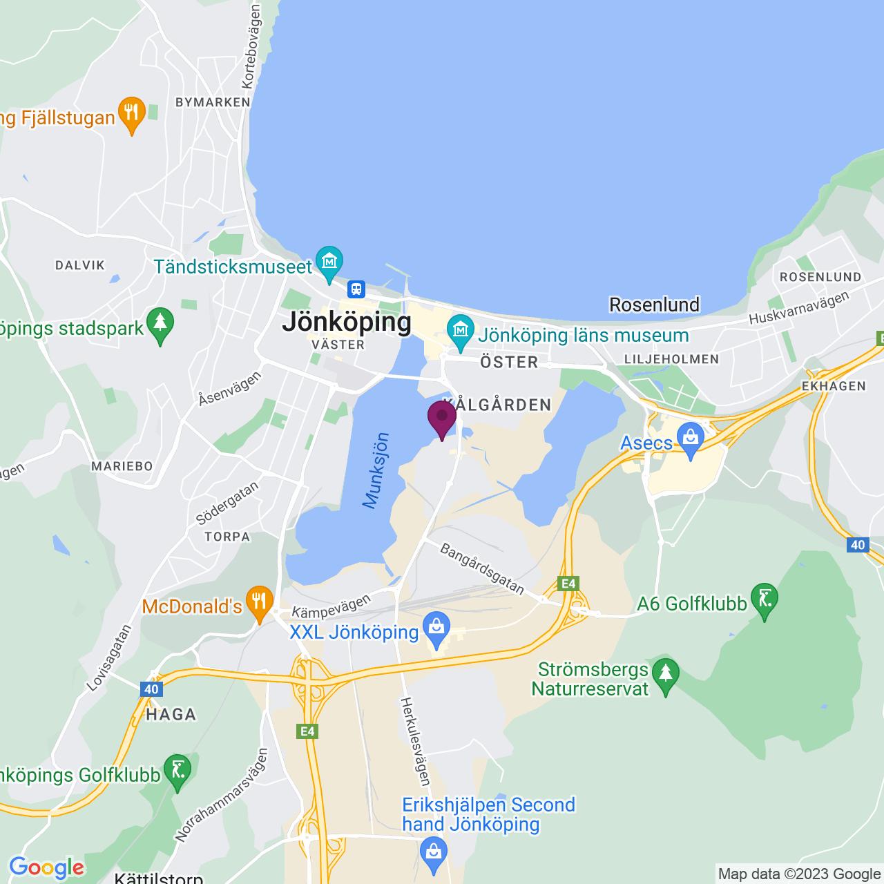 Kort över Klubbhusgatan 13