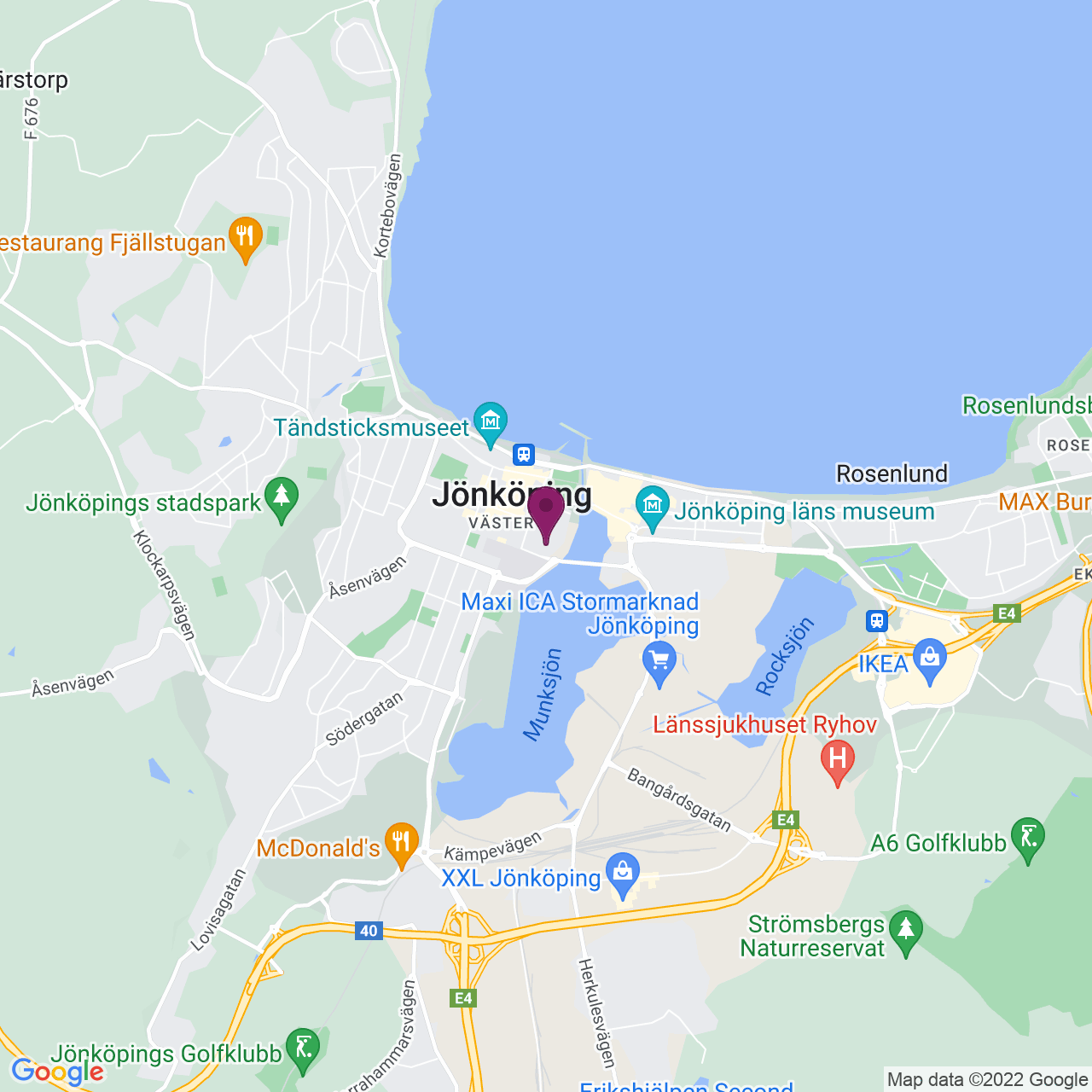 Kort över Vallgatan 8