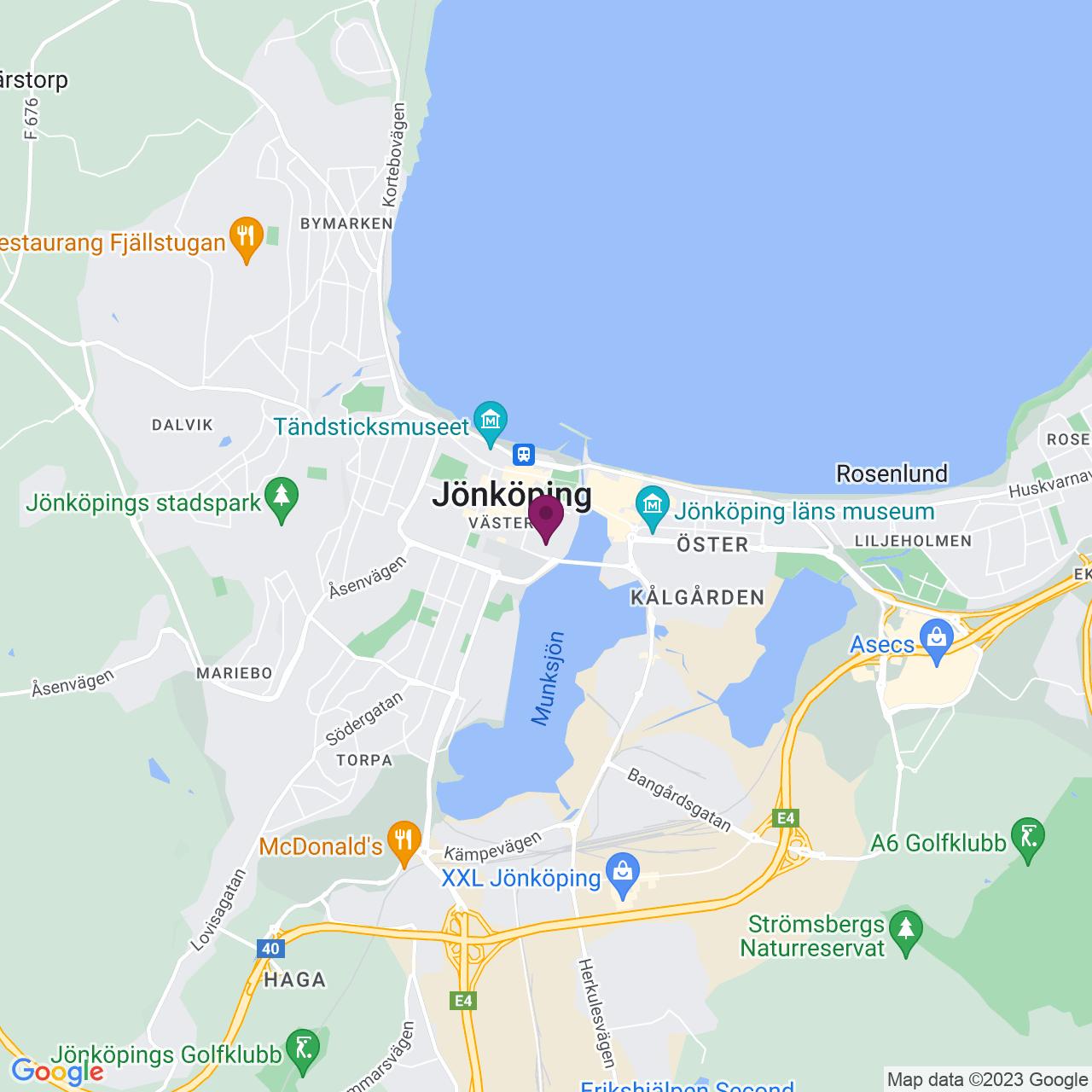 Karta över Vallgatan 8