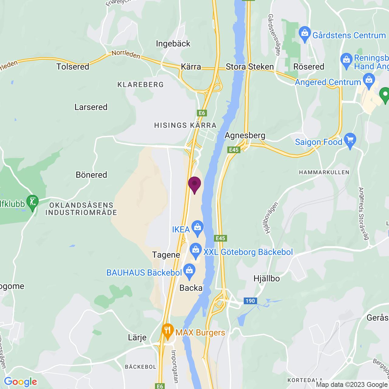 Kort över Transportgatan 39