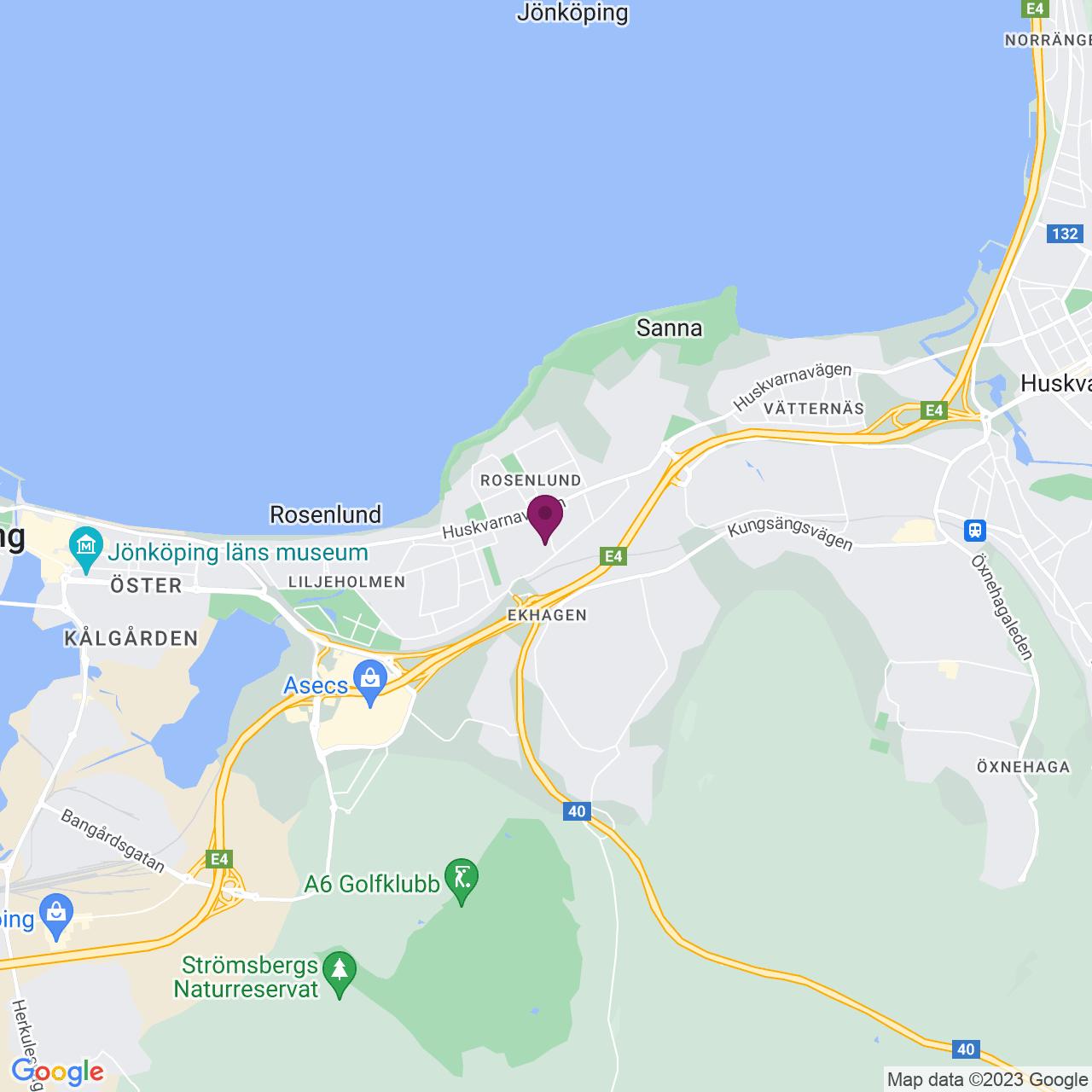 Karta över St Göransvägen 23
