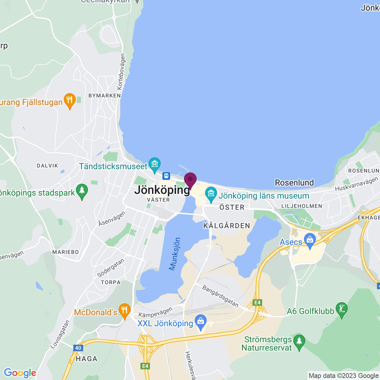 Karta över Södra Strandgatan 3