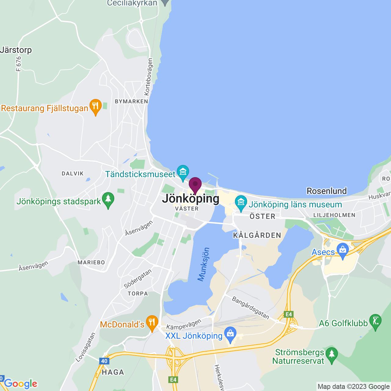 Map of Barnarpsgatan 14
