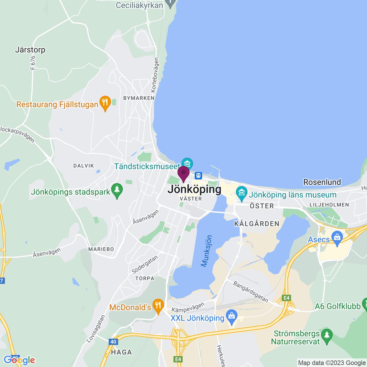 Karta över Skolgatan 25 B