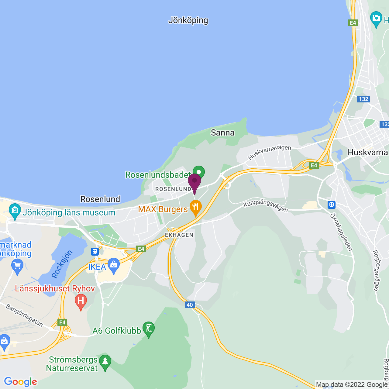 Kort över Linnégatan 2