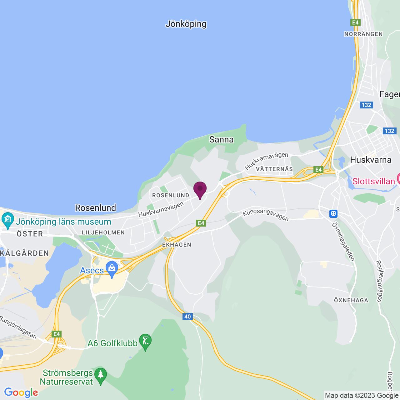 Karta över Huskvarnavägen 58