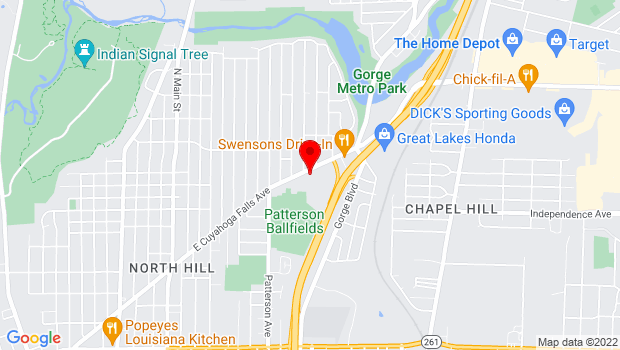 Google Map of 570 E Cuyahoga Falls Ave, Akron, OH 44310